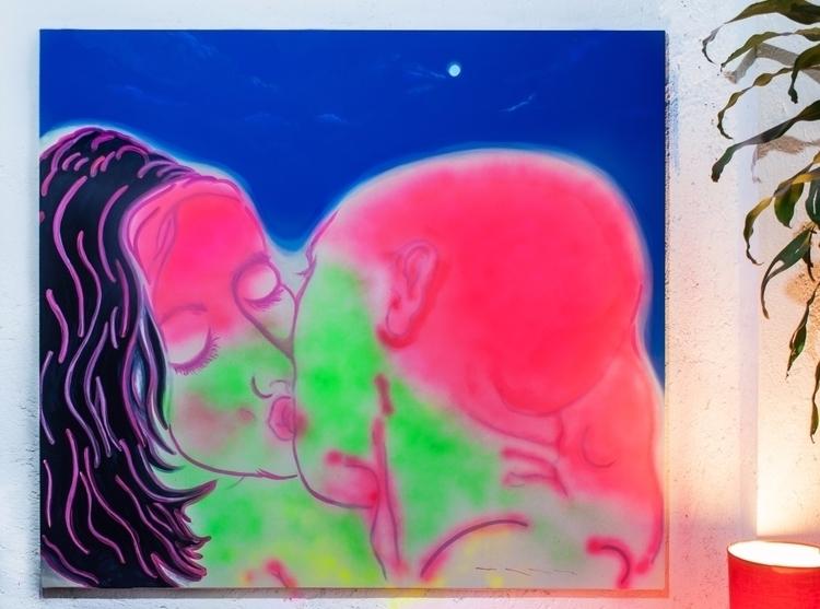 kiss-dream · acrylic enamel can - obographism | ello