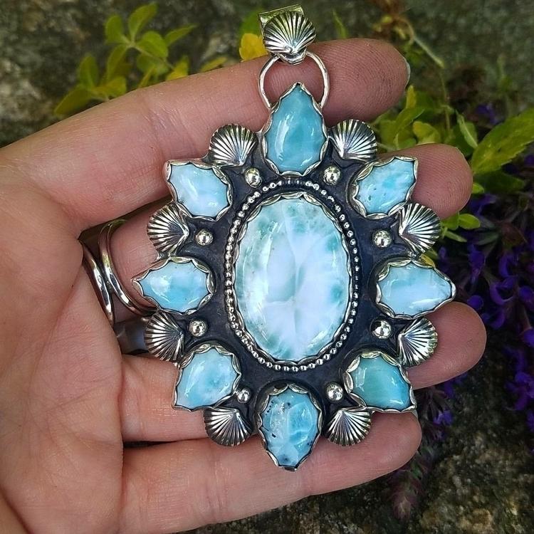 Larimar queen - larimar#ocean#beach#pendant#sterlingsilver#jewelry#handmade - eclecticblingjewelry | ello