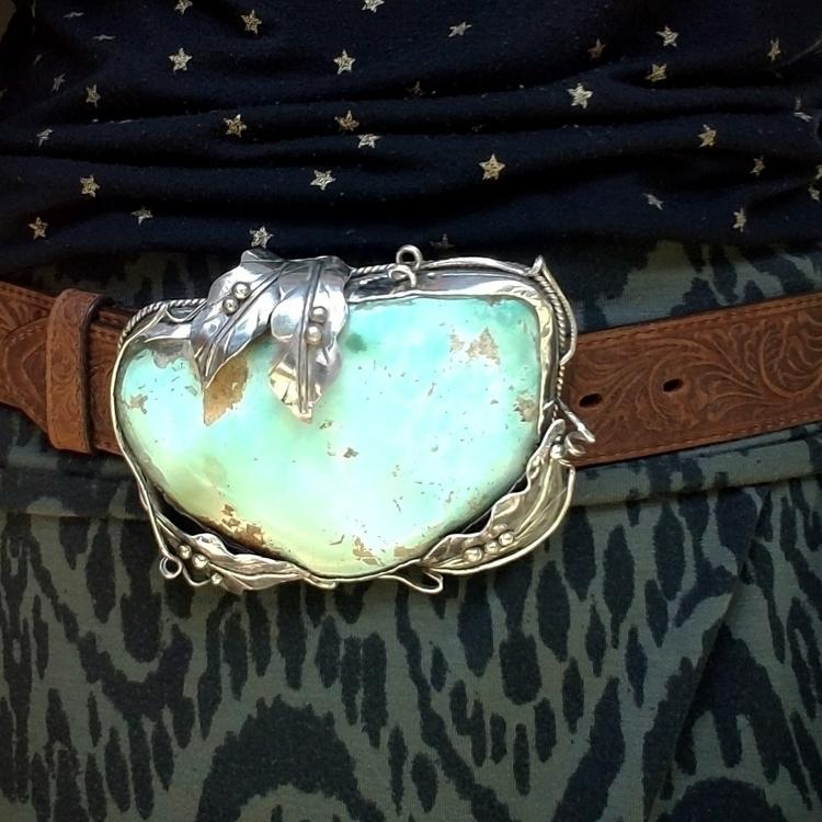 huge turquoise belt buckle - beltbuckle - eclecticblingjewelry | ello