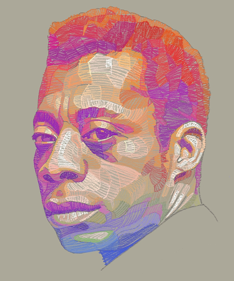 portrait James Baldwin - art, jamesbaldwin - luiferreyra | ello