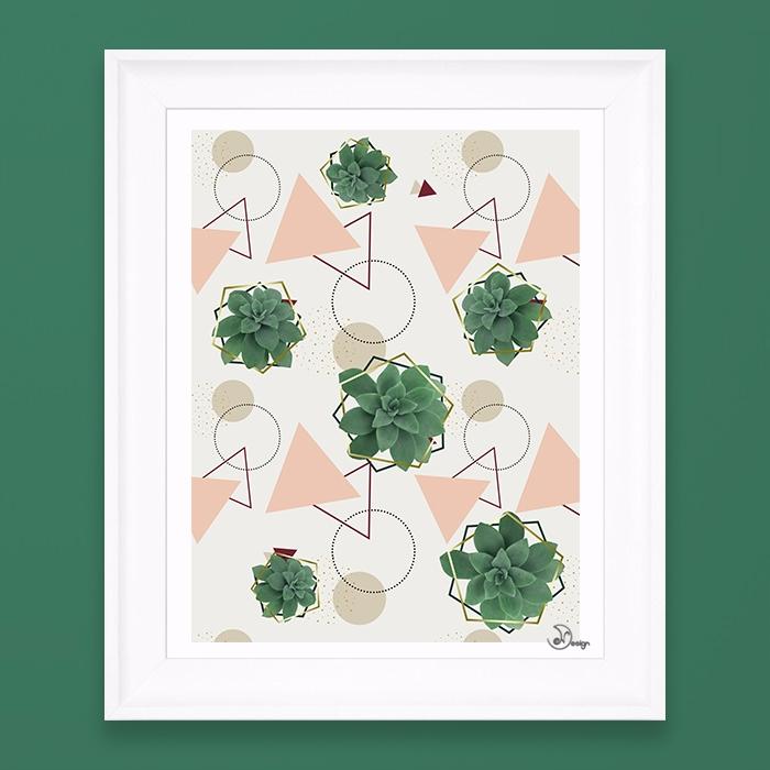 Lovely Succulents Abstract deli - designdn   ello