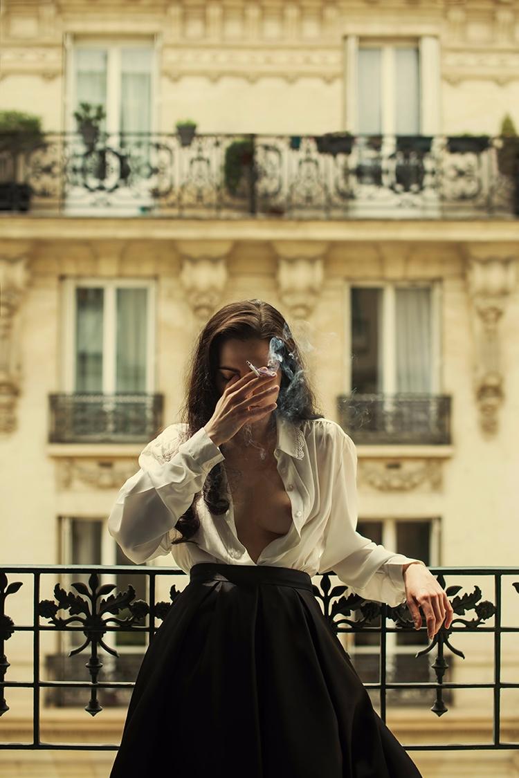 """Paris"" — Photographer/Model:I - darkbeautymag | ello"