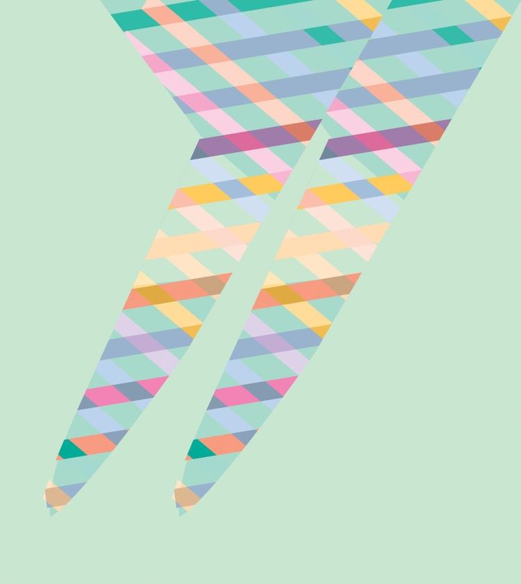 BALLERINA - abstract, geometric - comma_art | ello