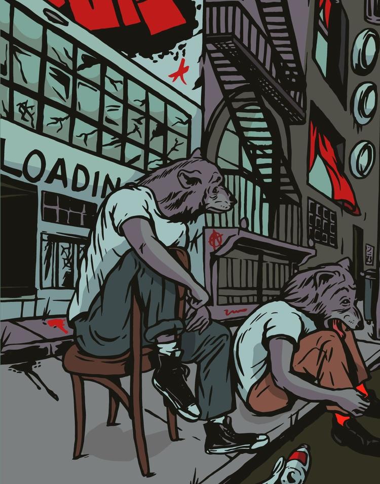 City Wolves - illustration - thomcat23 | ello