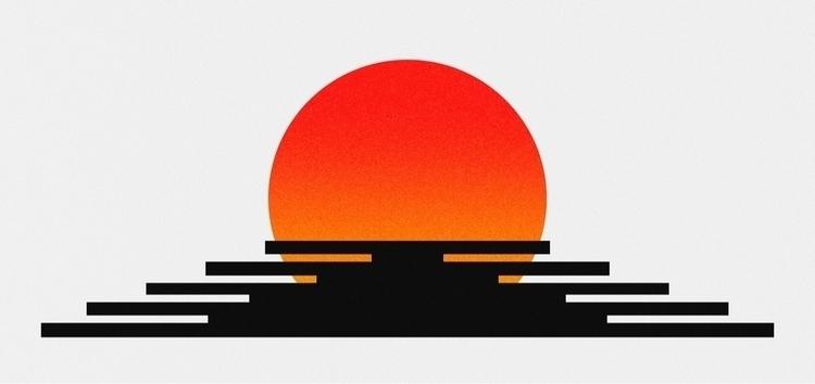 Nippon Sunset - japan, nippon, minimalist - max_yan | ello