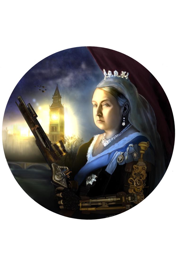 'Queen Victoria Waiting - procreate - susanholloway | ello
