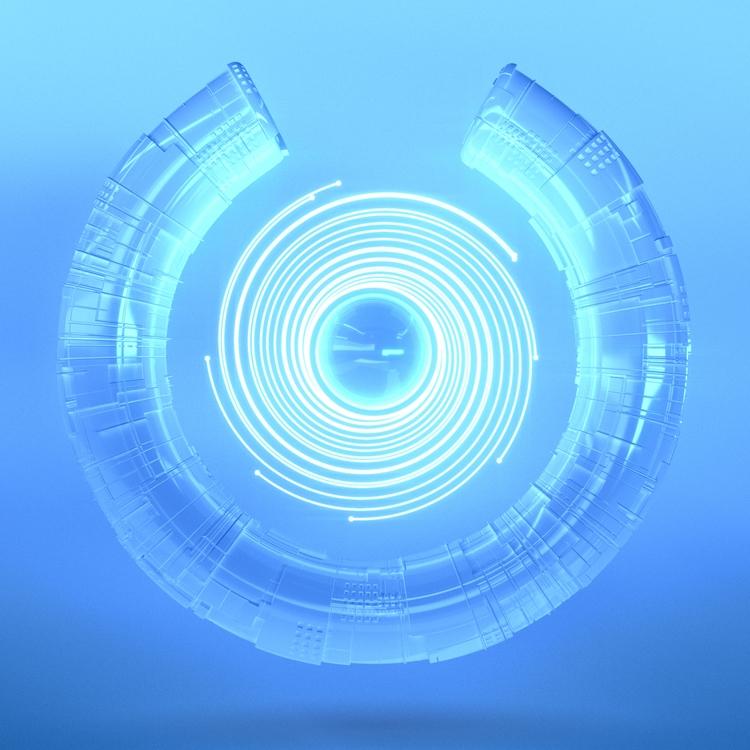Blue Bolts - almosteveryday, 3D - mitchfornever | ello