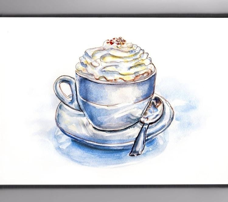 Hot Cocoa Whipped Cream  - doodlewashclub - doodlewash   ello