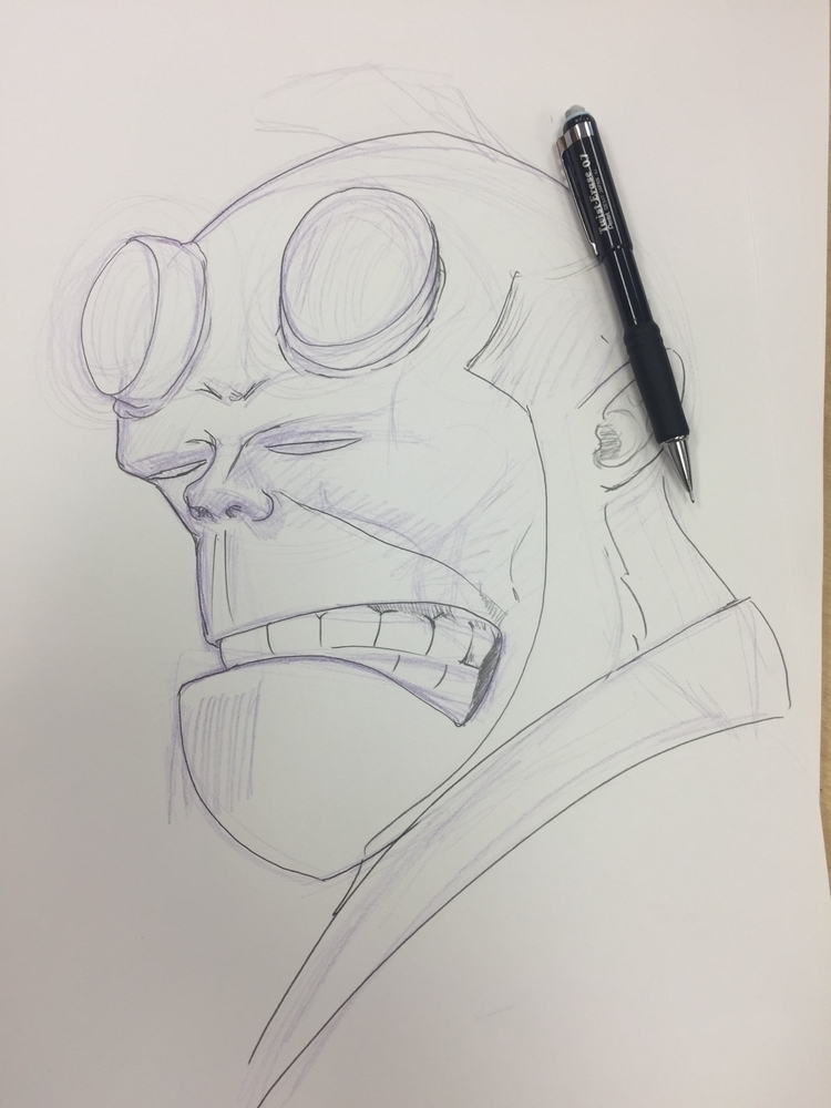 Hellboy work progress - cmonkey67 | ello