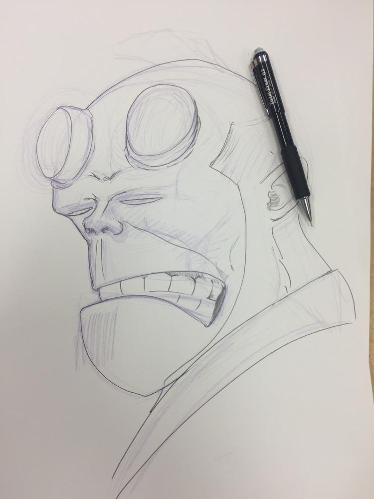 Hellboy work progress - cmonkey67 | ello