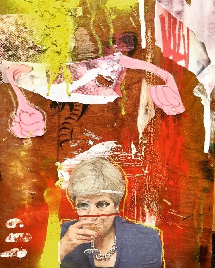 Theresa free fall....#painting - jackthelad15 | ello