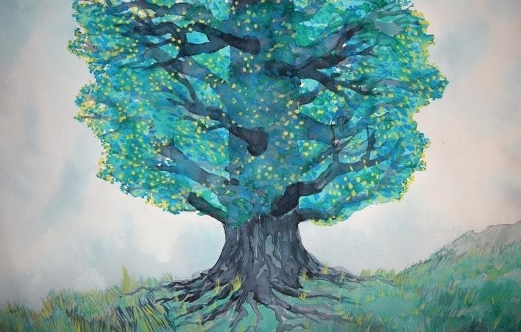 Tree Watercolour - euric | ello