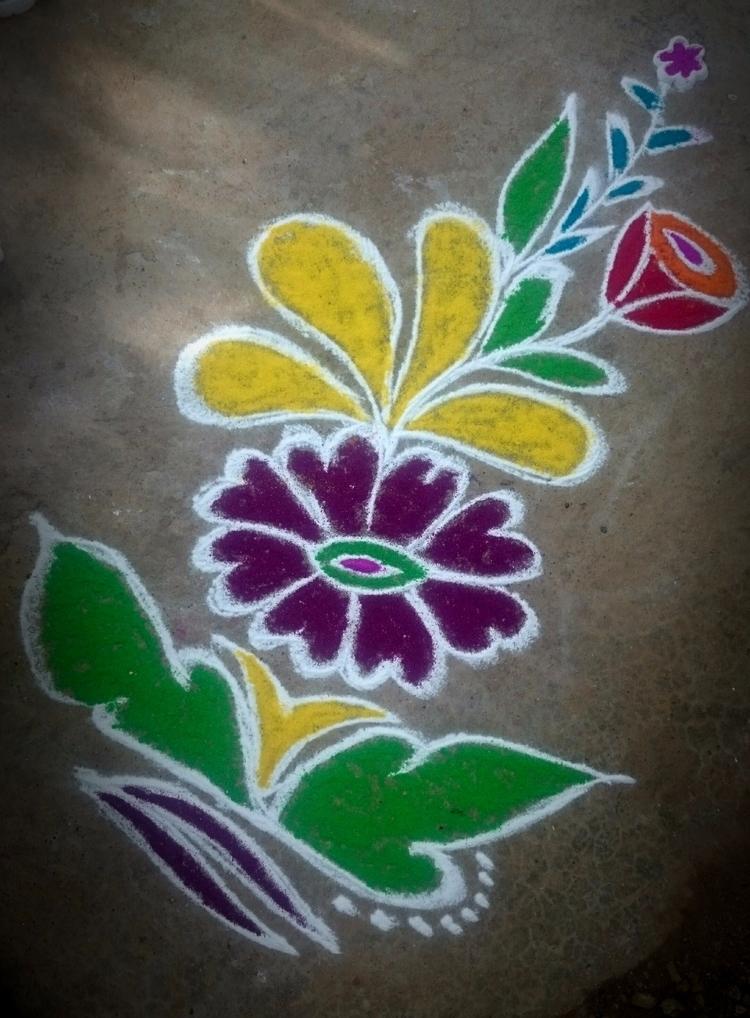 India, Rangoli - atulbw | ello