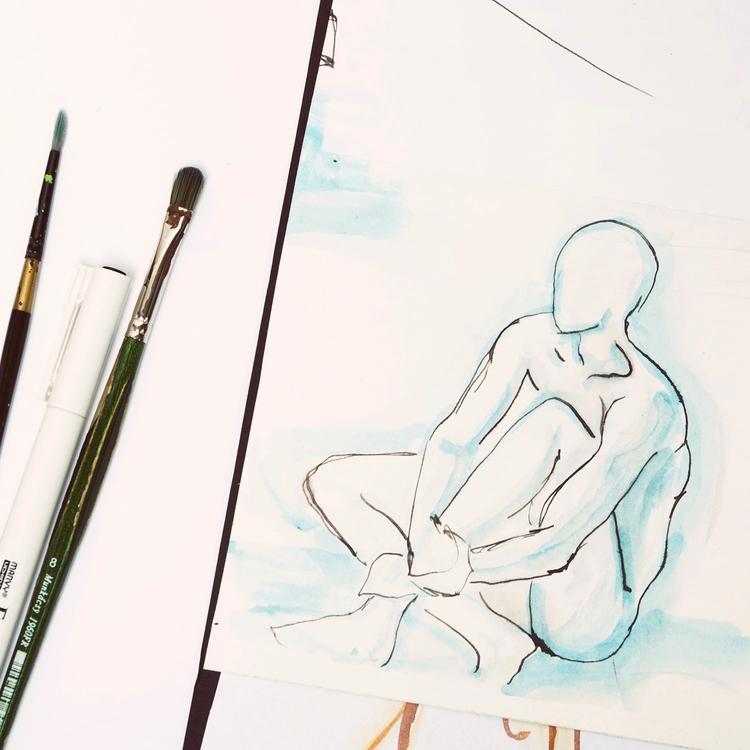 Study - aquarelle, art - ernaart | ello