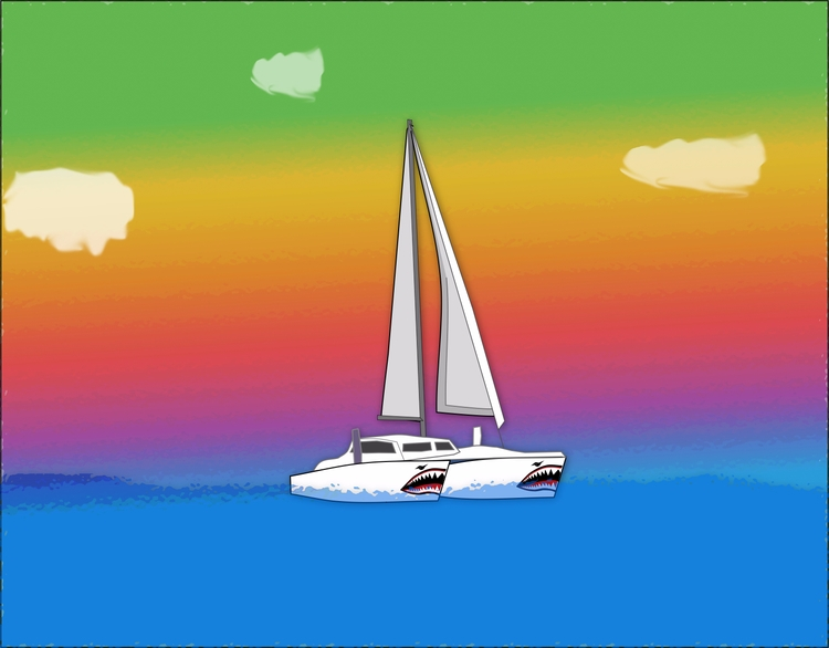 =.=.=.=.= - sailboat, catamaran - coochdawg | ello