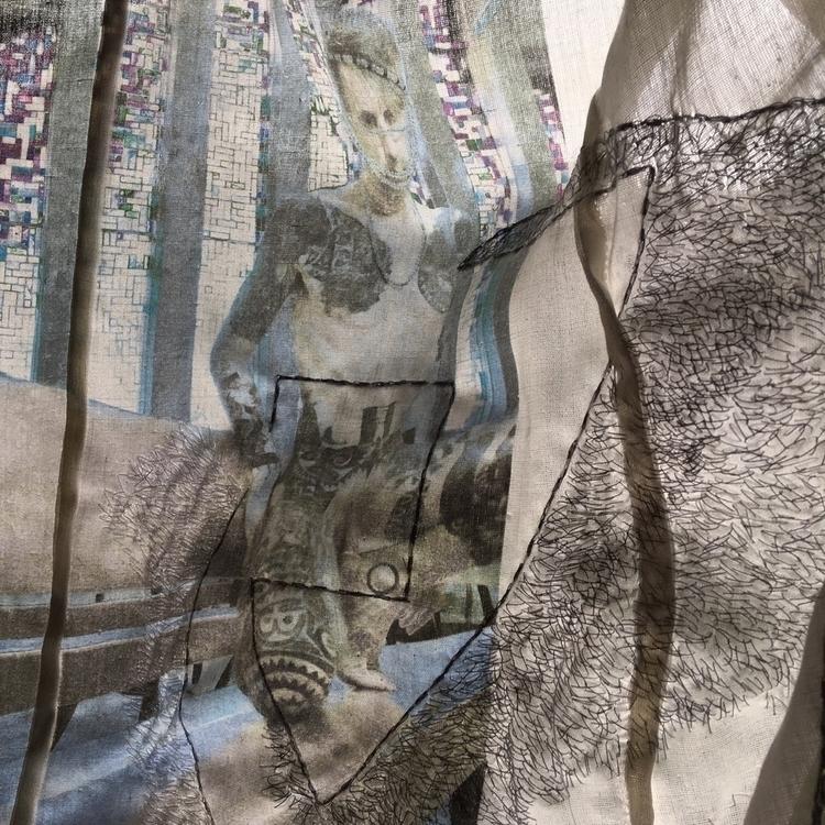 sonny side,embroidered drawing  - soek_madebysoek | ello
