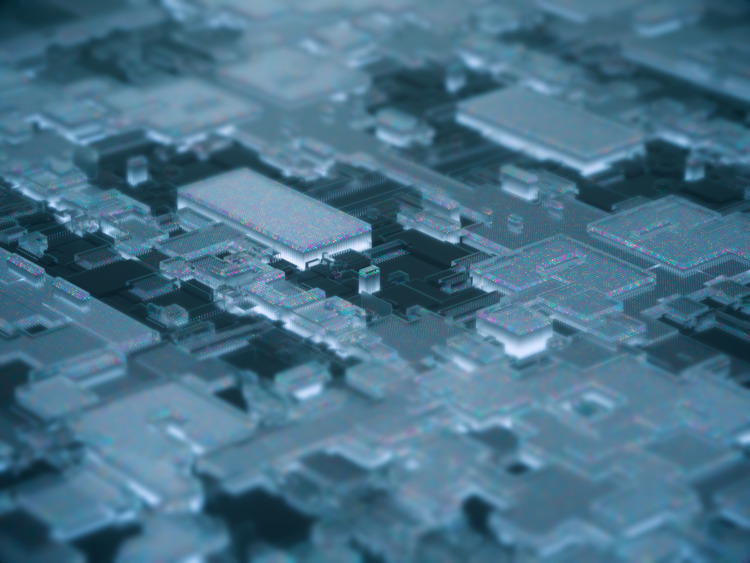 Micro city /night version - cinema4d - ionsounds | ello