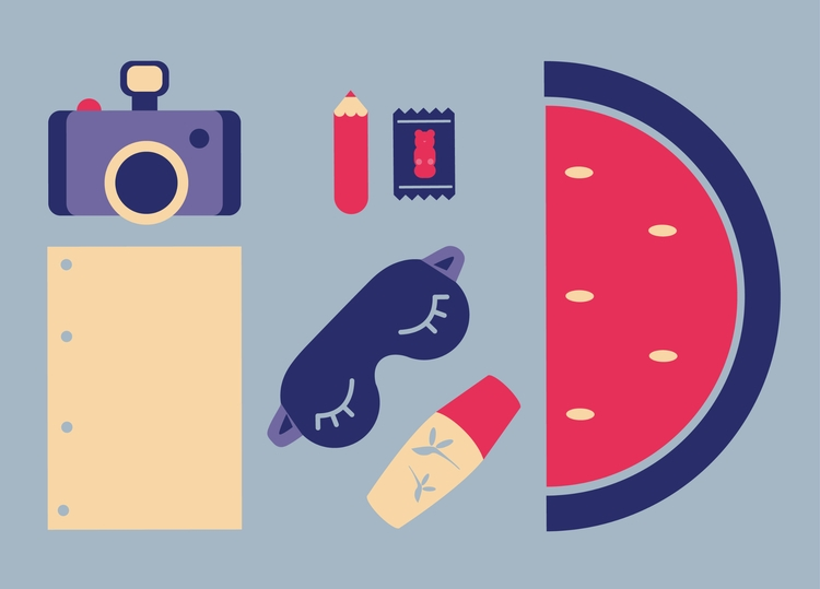 survival kit - illo, illustration - chiara_morra | ello