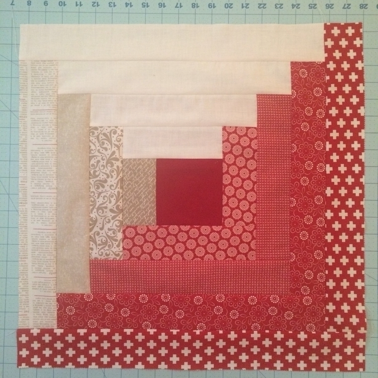 started log cabin quilt Project - mkkp_quilter | ello