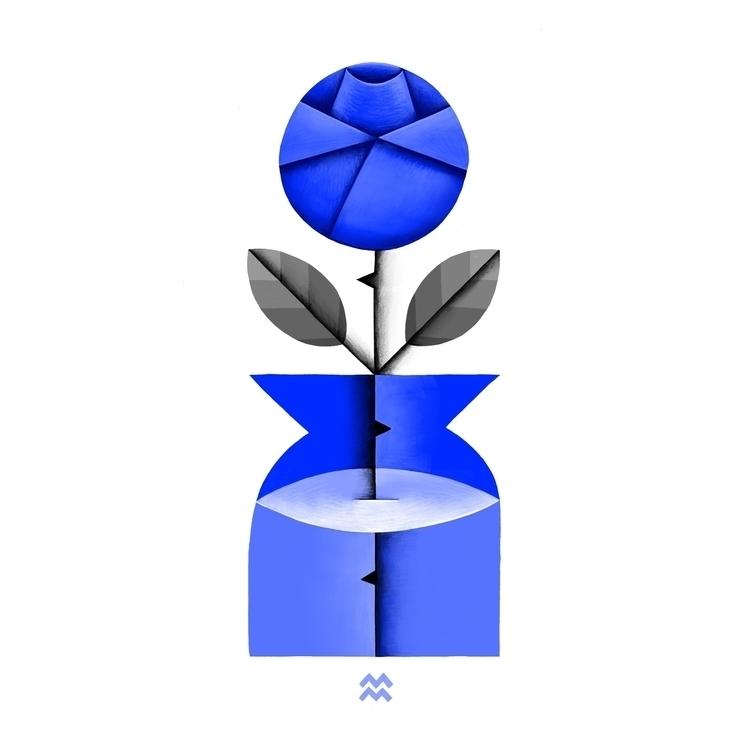 blue redo (Blue Rose II, inspir - miriamdraws   ello