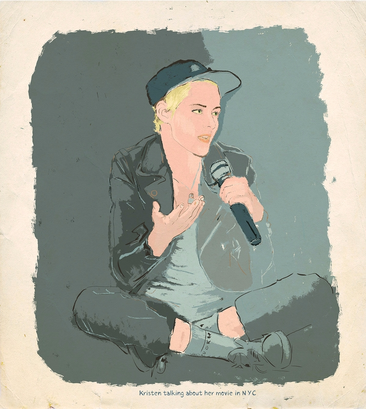 Kristen - illustration, talking - zoe_vadim | ello