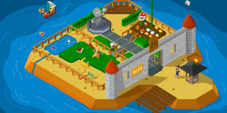 [Isometric Mario Theme Park - pixelart - apoonto | ello
