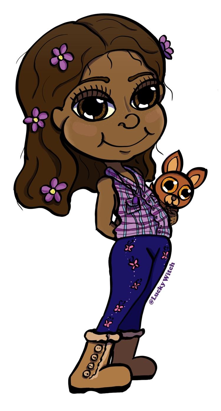 cousin Merinda - caricature - luckywitch | ello