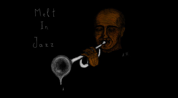 melt jazz - rupkusart,, jazz,, drawing, - karolisrupkus | ello