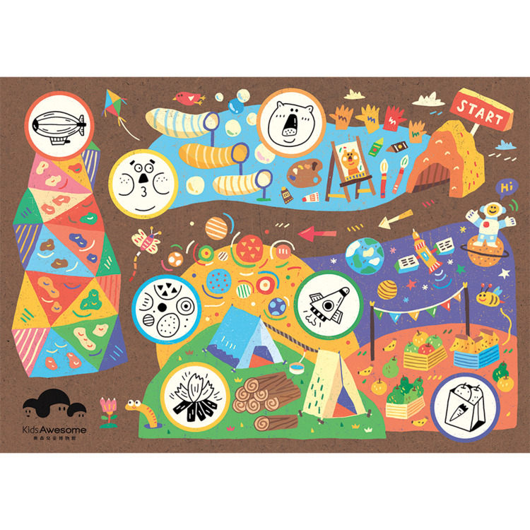 Map illustration Kids Awesome M - tai_pera | ello