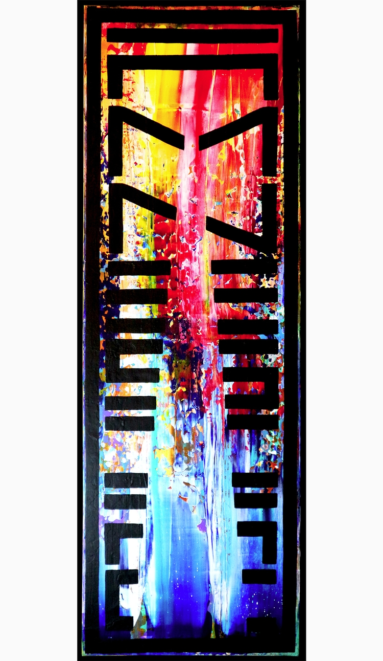 AMNESIAC, acrylic canvas, 90 30 - nishe_ink | ello