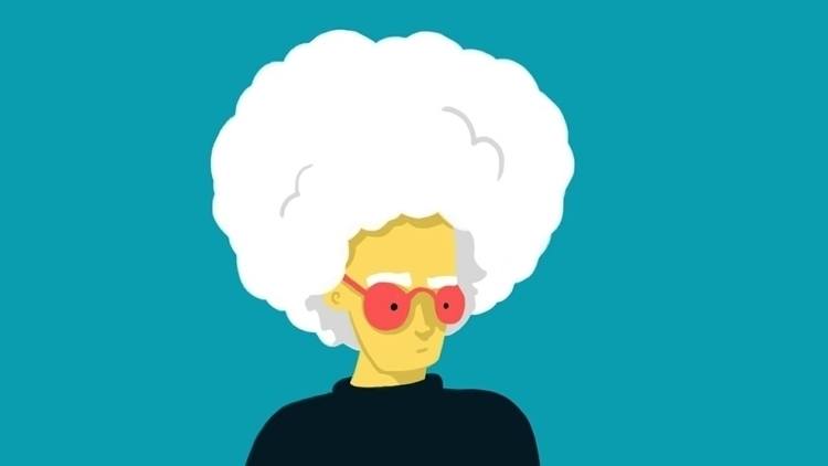 Warhol, afro, science, art, illustration - royhl | ello