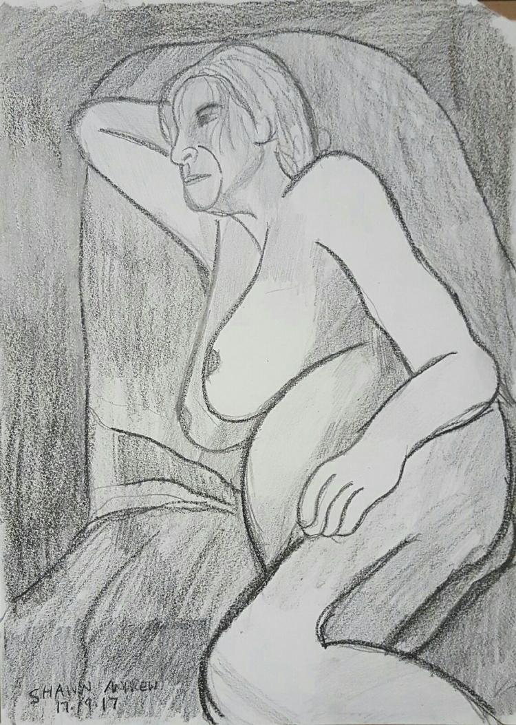 Figure drawing - Lumocolor penc - shawnartist | ello