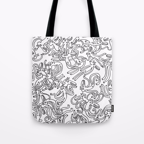Garbled/ TOTE BAG/ 2017 - doodle - babakesmaeli | ello