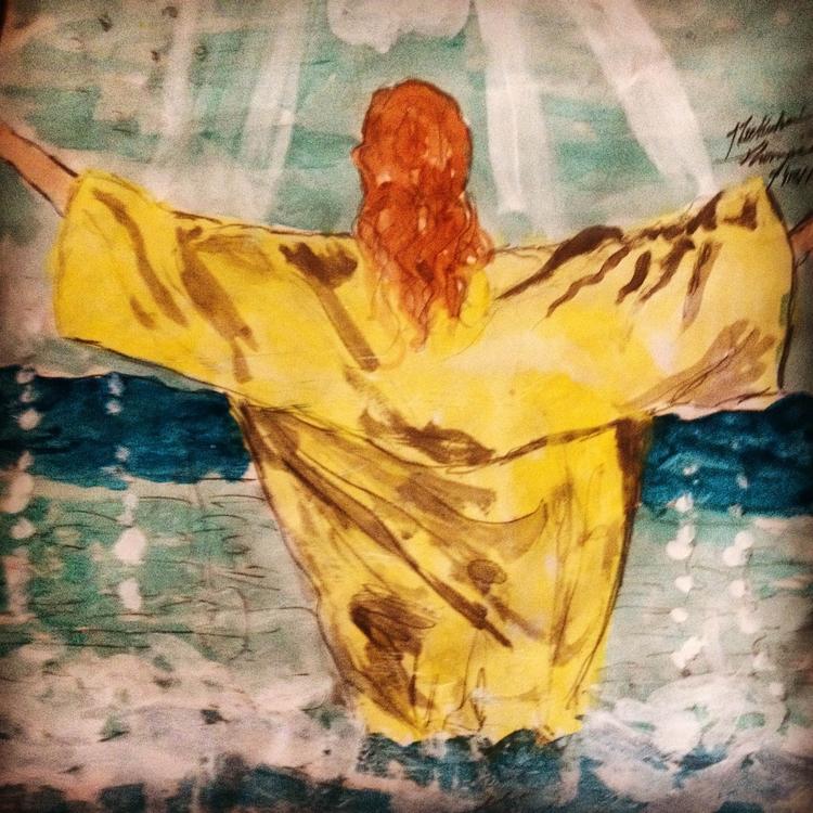 Holy Spirit falls dove Jesus - loveartwonders | ello