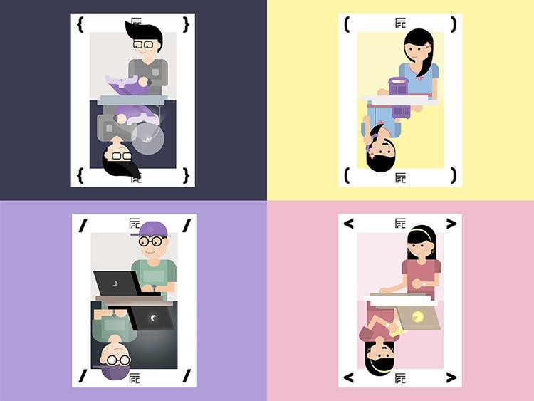 Trading Card ( { < / conclud - designmnl | ello