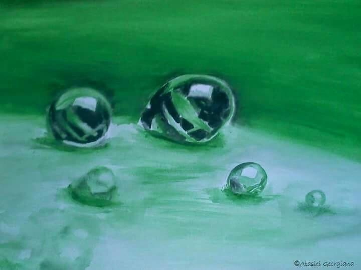 waterdrop, tempera, a4 - atasieigeo | ello