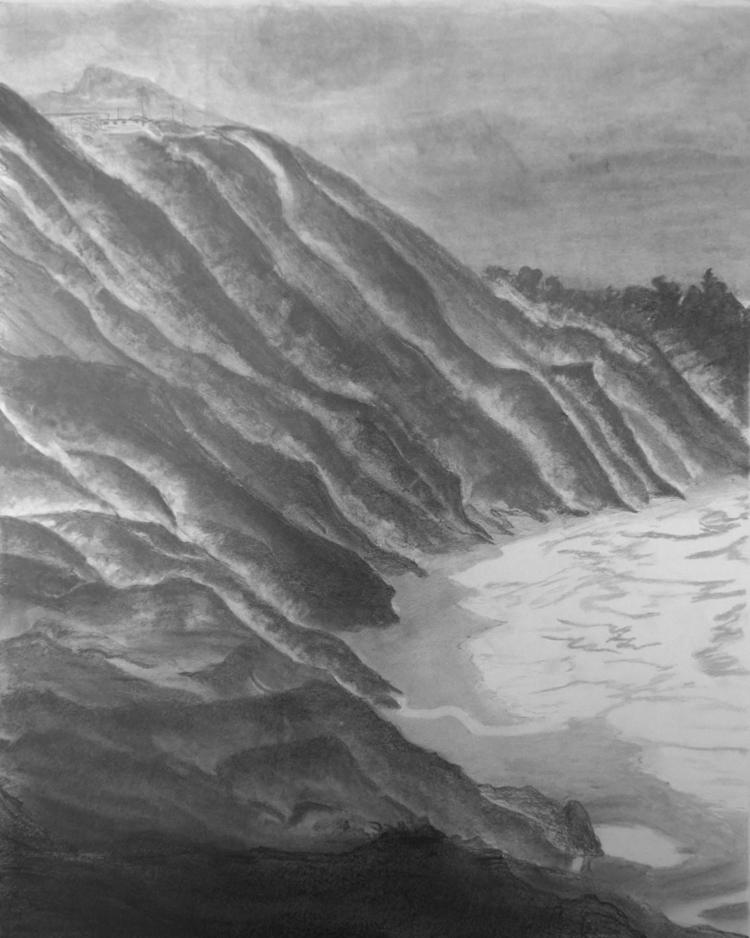 Landscape graphite pencil, 16x2 - johnmullinax | ello