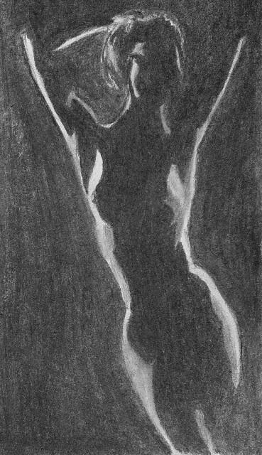 key sketch. Vine charcoal - figure - johnmullinax   ello