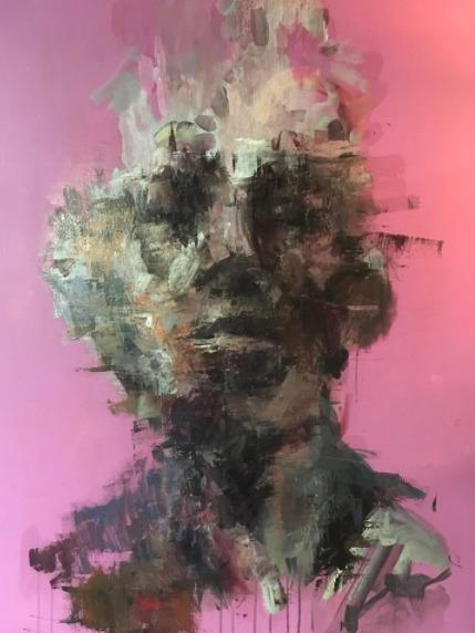 Realization 36 48 oil canvas. S - blflood | ello