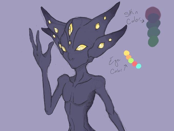 alien concept art - characterdesign - lylatroid   ello