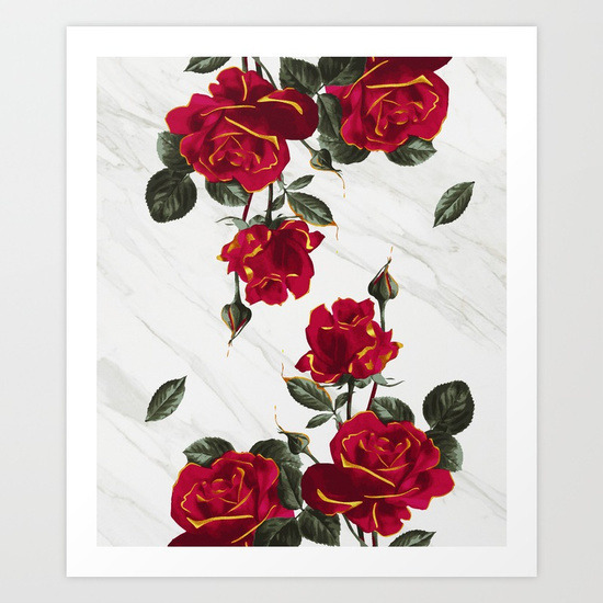 Red Roses – White Marble - roses - lostanaw | ello