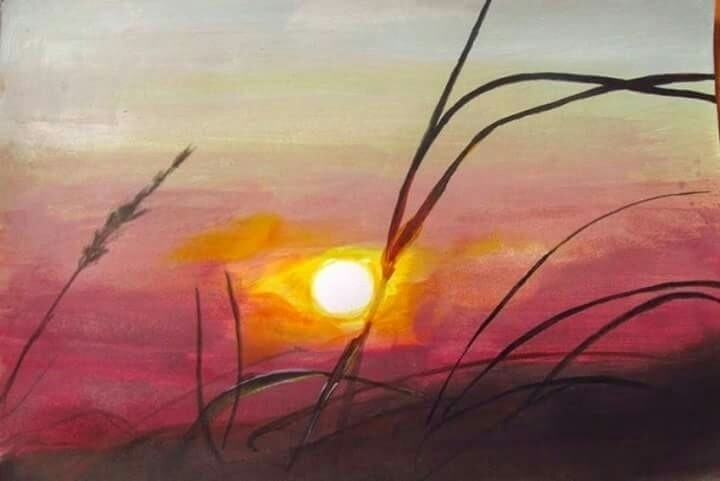 landscape, sunset, acrilic - atasieigeo | ello