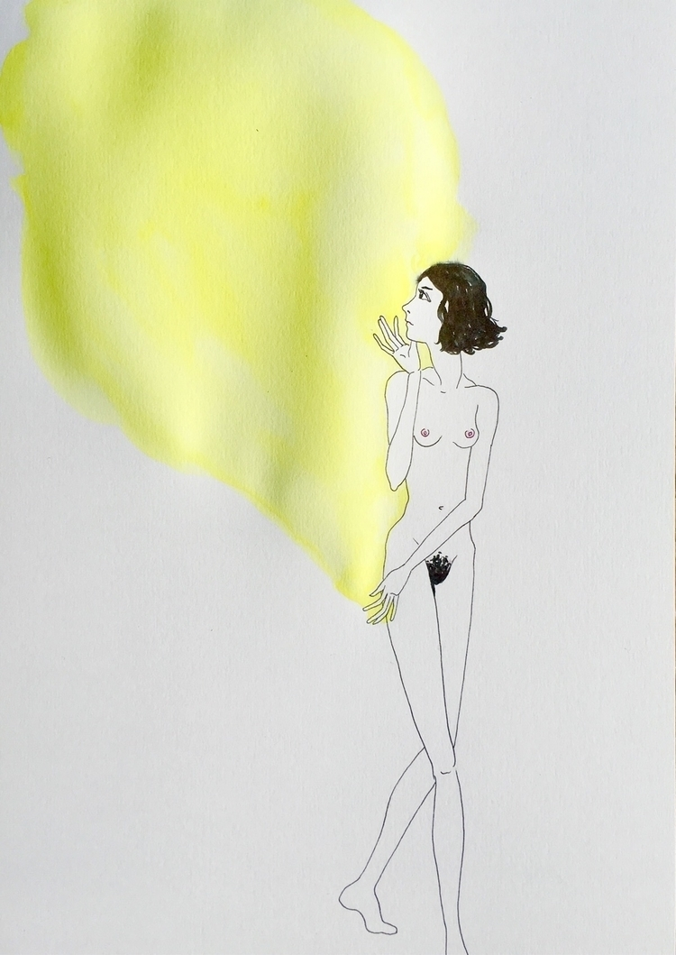 goodbye yellow - kunst, drawing - lorettamae | ello