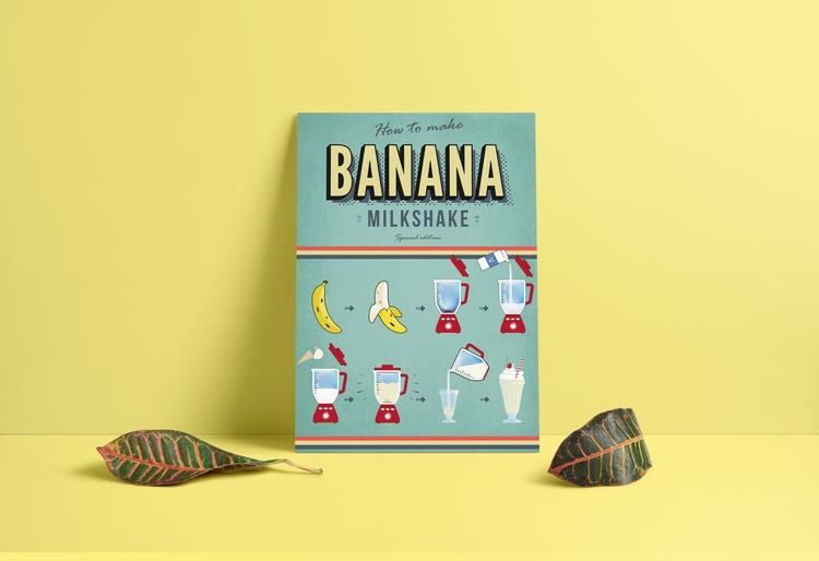 infographic: banana milkshake - sinterclaas | ello
