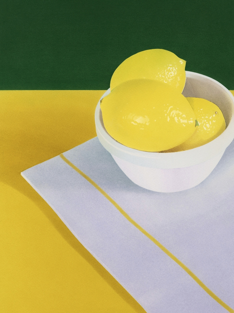 'Lemons' - pastel 100% cotton p - ohgoodgoods_mag   ello