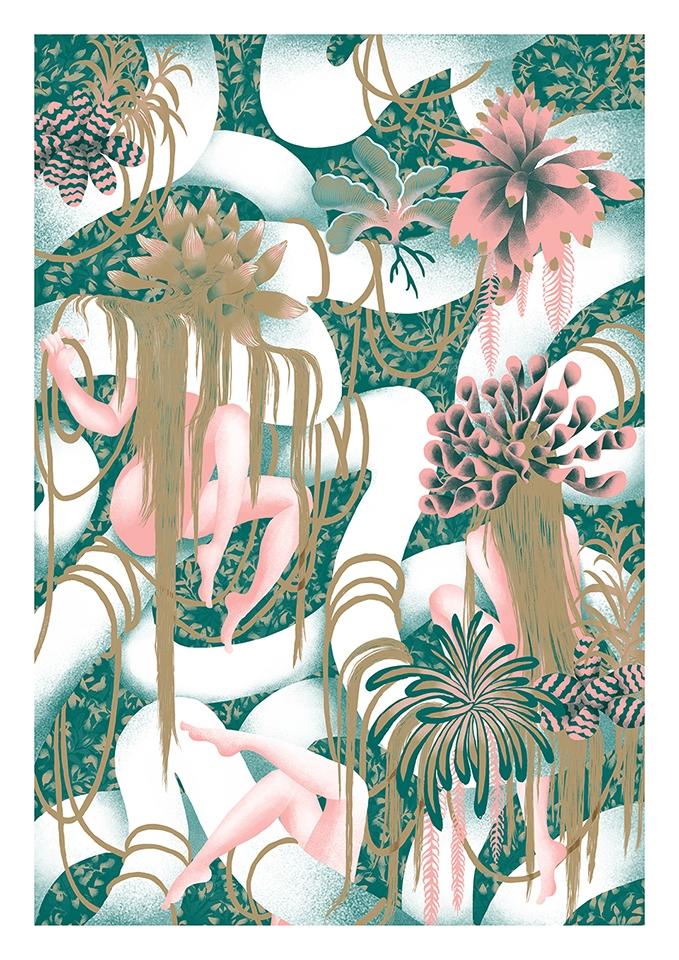 Jungles trees. Risograph printi - yuhsuan | ello