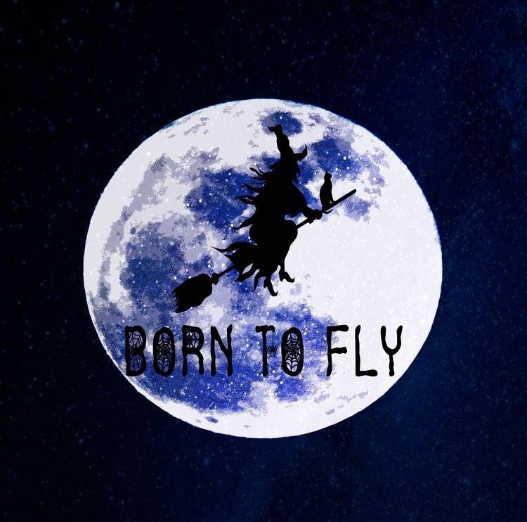 witch, broomstick, moon, halloween - nalebrun | ello