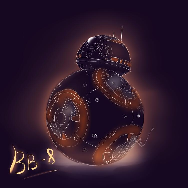 BB 8 - Star Wars Fanart Ilustra - viithay | ello