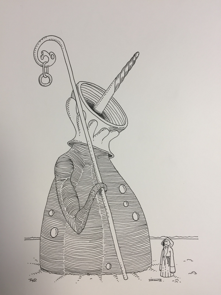 Barbe / beard - illustration, art - jimmy-draws | ello