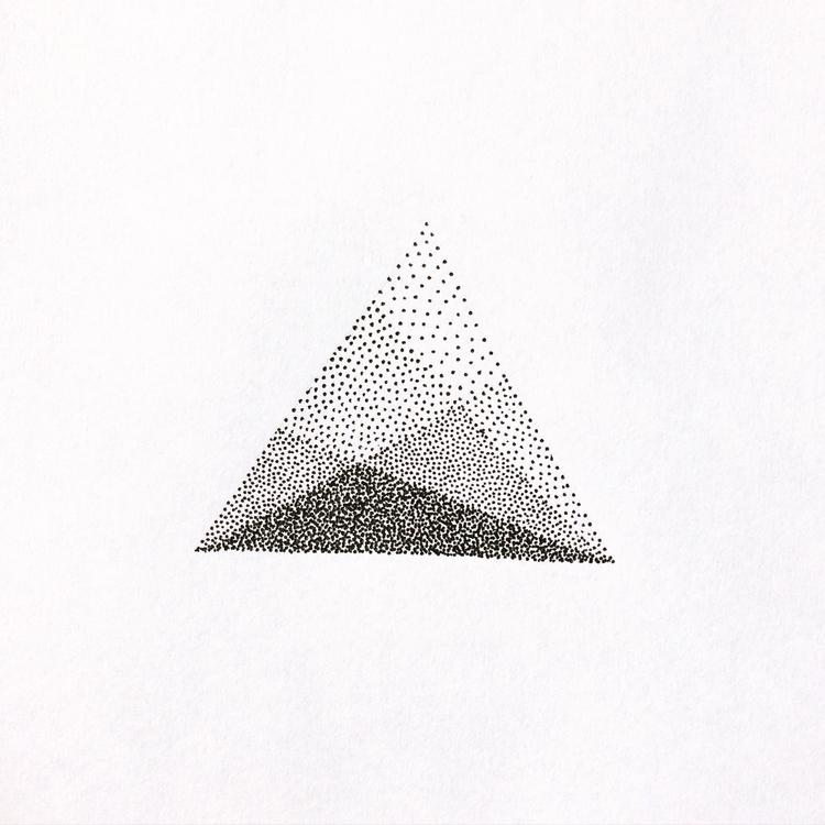 Mountains. Dotwork - dotwork, minimalism - qlu | ello